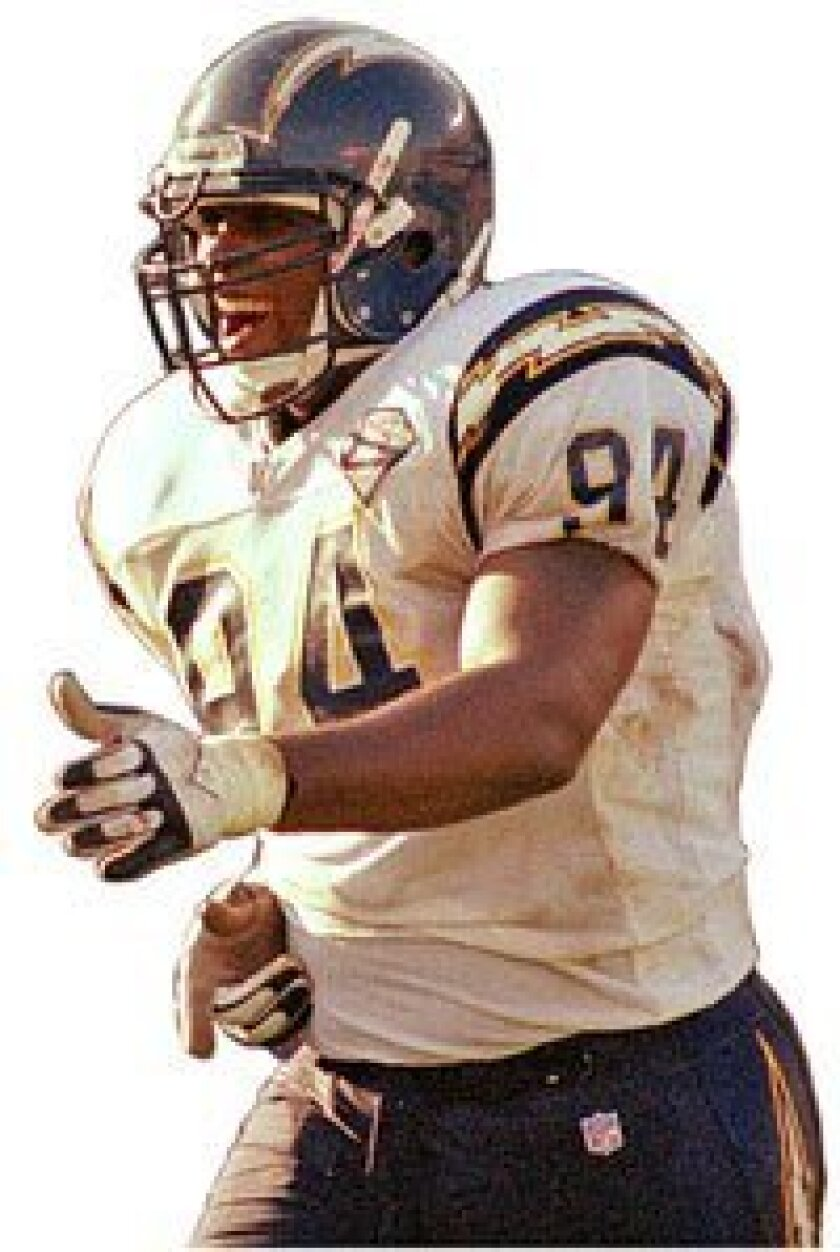 Chris Mims played for the AFC championship team. (1994 file photo / Union-Tribune)