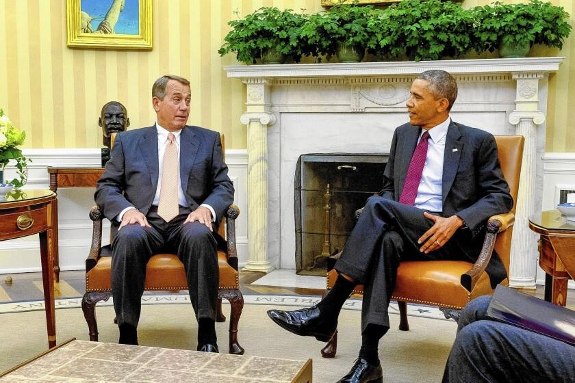 House Speaker John A. Boehner and President Obama