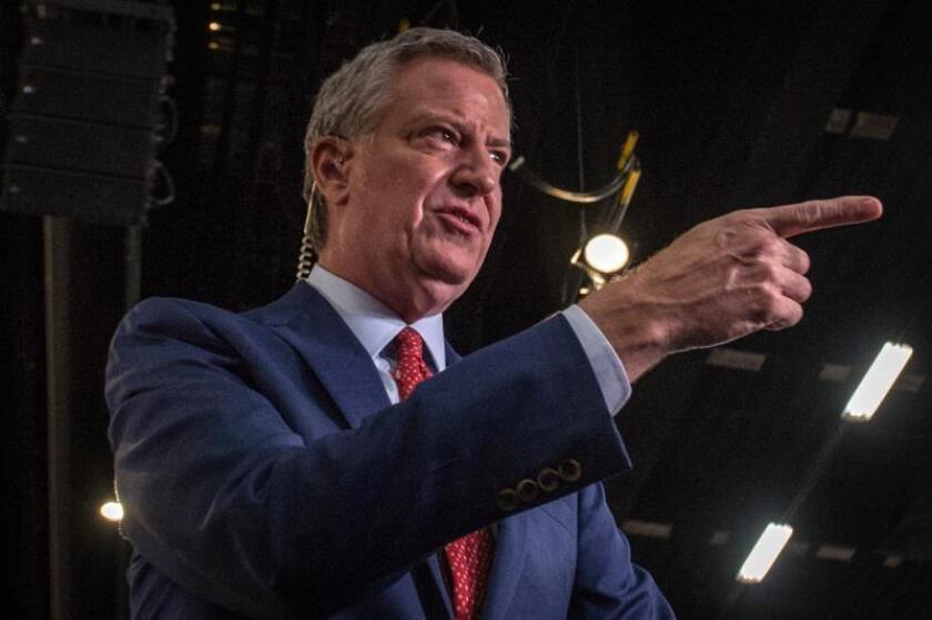 El alcalde de Nueva York, Bill De Blasio, habla con la prensa. EFE/ Giorgio Viera/Archivo