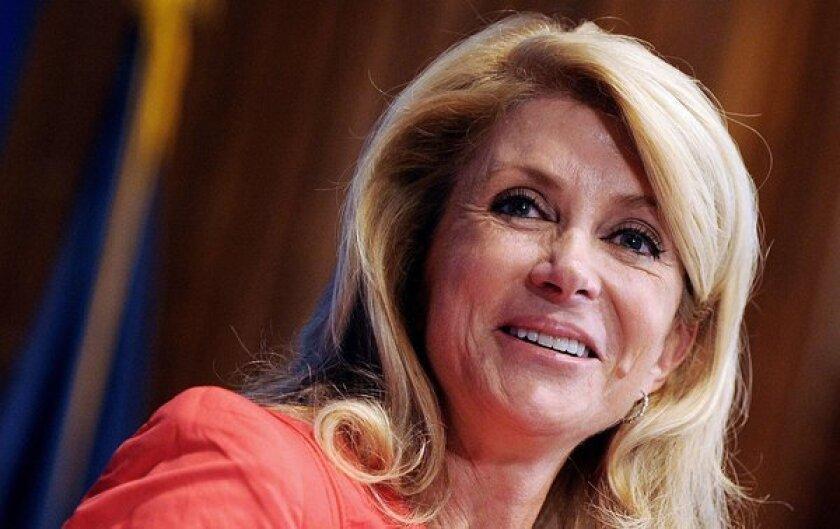 Democratic state Sen. Wendy Davis of Texas speaks at a National Press Club luncheon Aug. 5 in Washington.