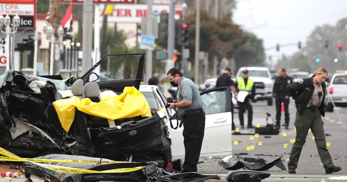 3 men dead in Anaheim car crash; driver found after fleeing the scene