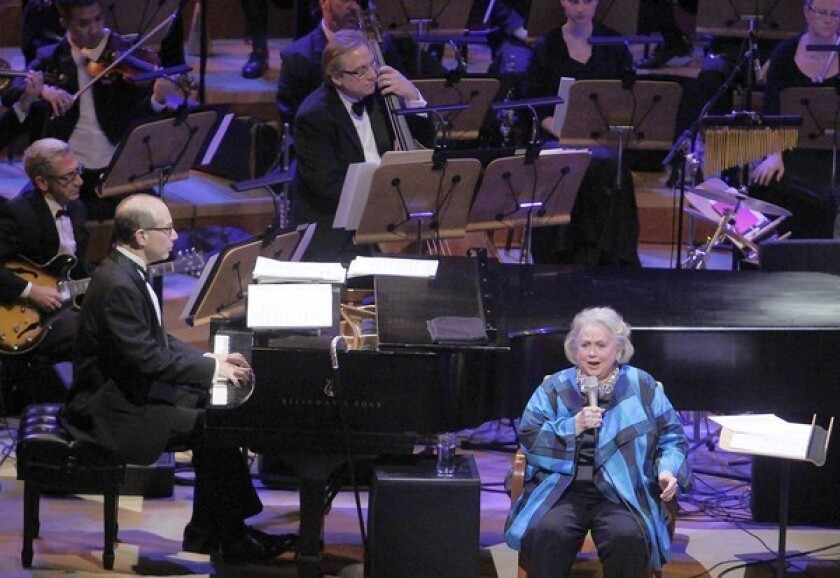 Broadway lyric soprano Barbara Cook accompanied by Ted Rosenthal on piano performs with the Los Angeles Philharmonic.
