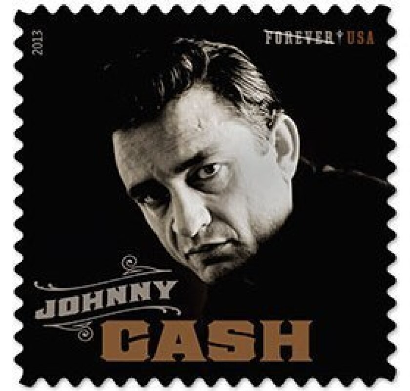 "The U.S. Postal Service's ""Music Icons"" postage stamp honoring Johnny Cash will be unveiled next week in Nashville."