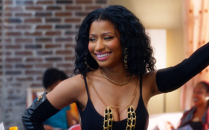"Nicki Minaj in ""Barbershop: The Next Cut."""