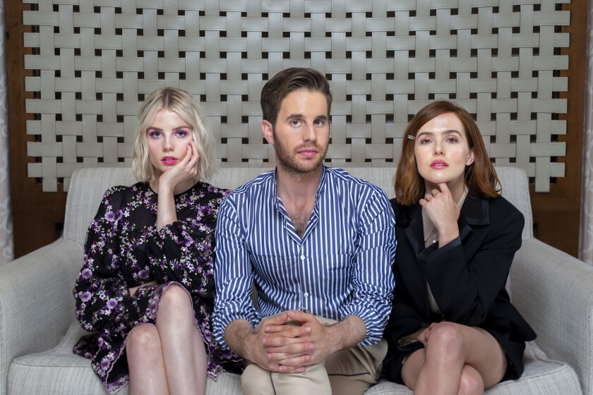 "Lucy Boynton, left, Ben Platt and Zoey Deutch star in the new Netflix series ""The Politician."""