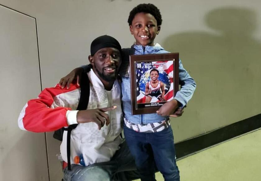 Terence Crawford with his son, Terence Crawford III