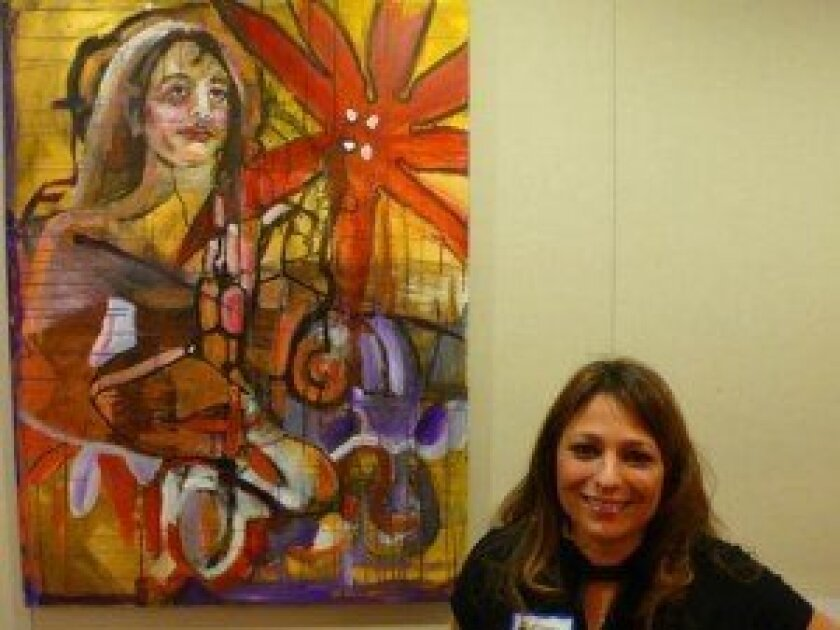 Elissa Lieberman and 'Girl With Flower'