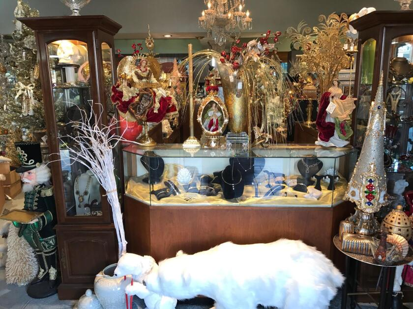 Bowers Jewelers, decorated for Christmas, is a feast for the senses.