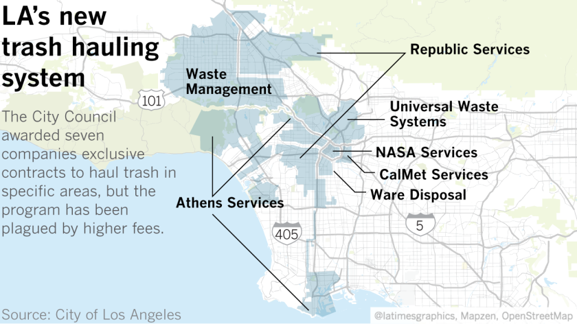 Soaring trash fees for L A  condos and apartment buildings spark