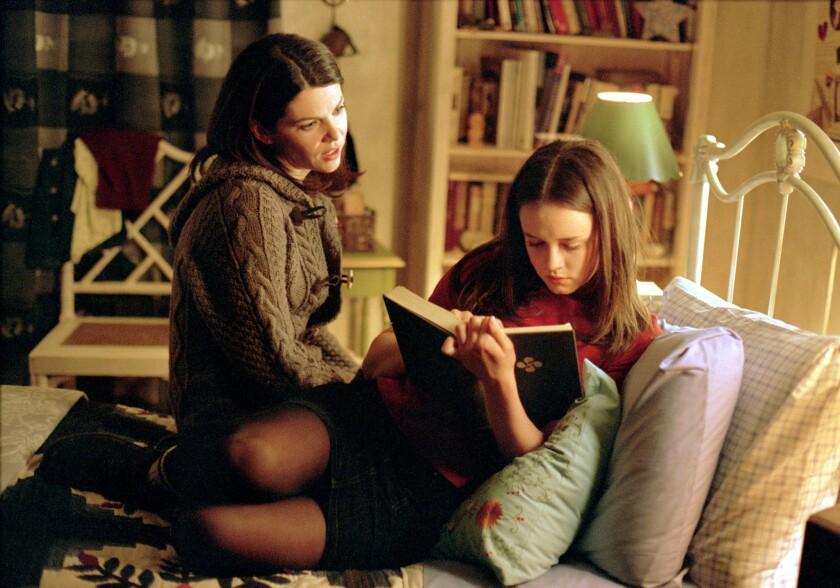 """Lauren Graham, left, and Alexis Bledel in """"Gilmore Girls."""""""