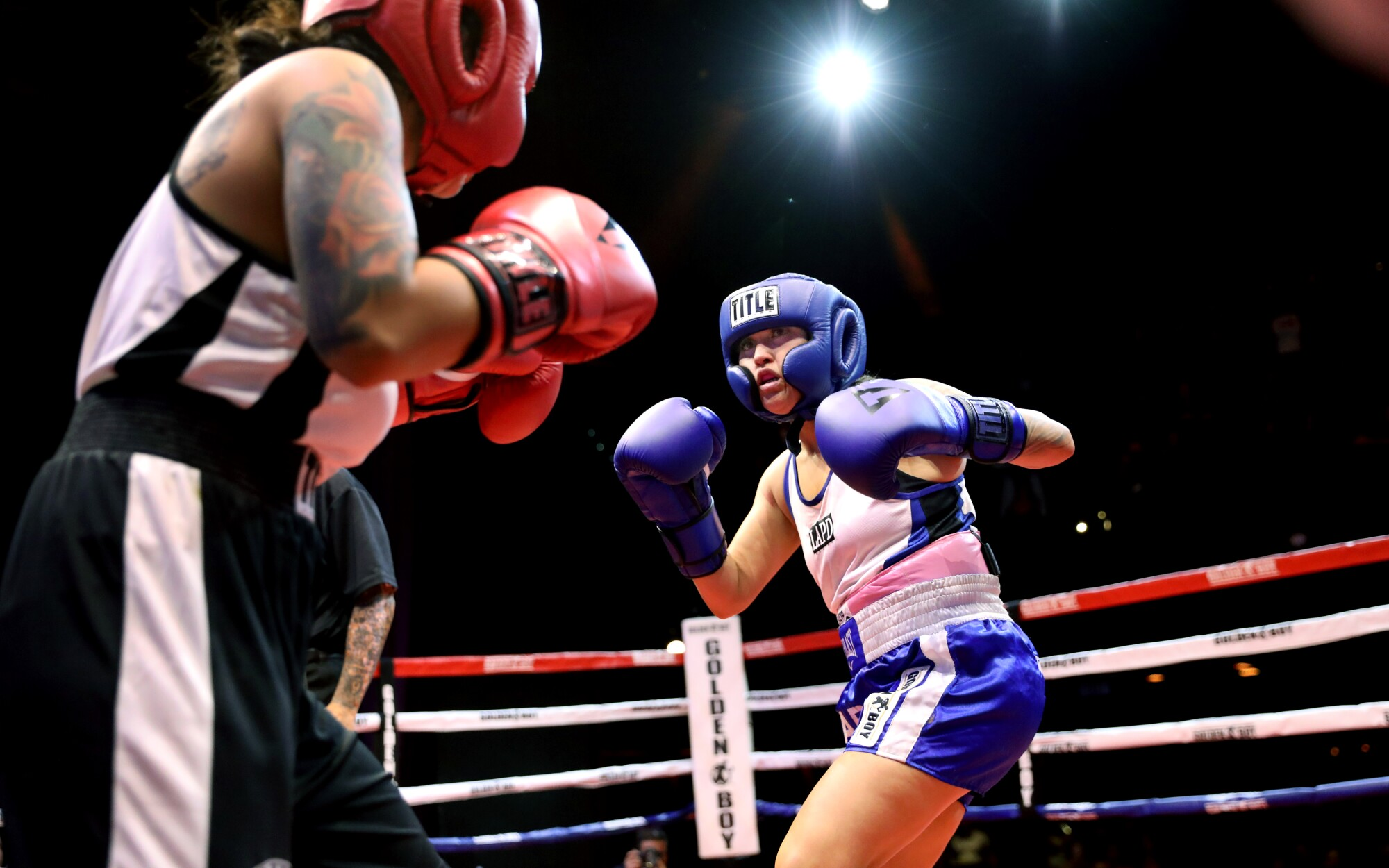 Mother. Officer. Boxer. LAPD's 'Sugar Dre' brings grit to the ring and the streets - Los Angeles Times