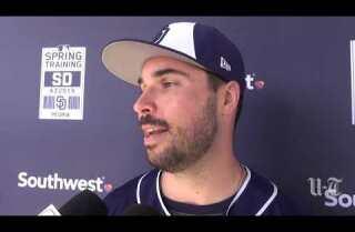 Padres players react to Machado reports