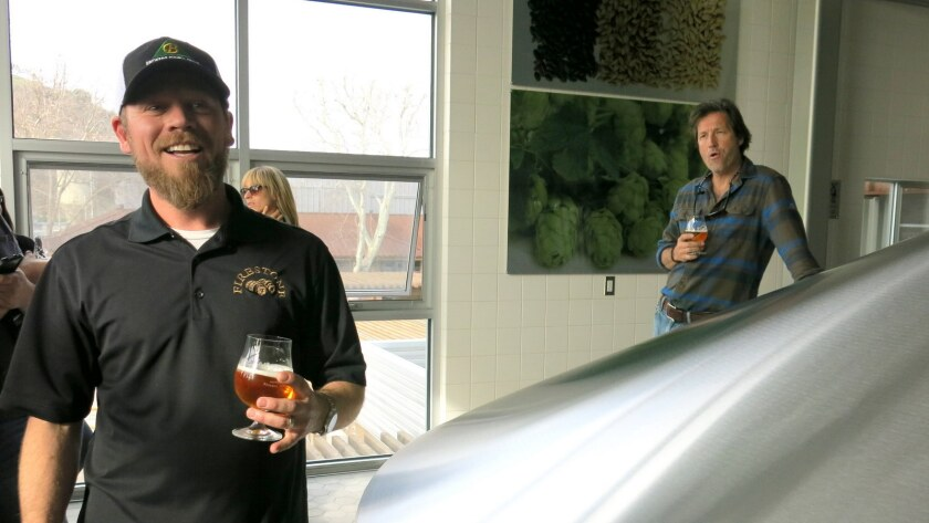 Firestone Walker's Matt Brynildson and David Walker rode to Pliny's rescue.