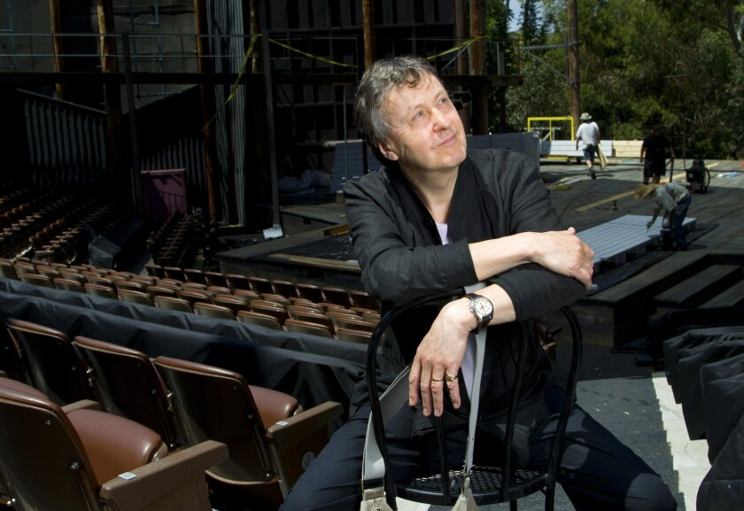 Adrian Noble at the Old Globe's Lowell Davies Festival Theatre.