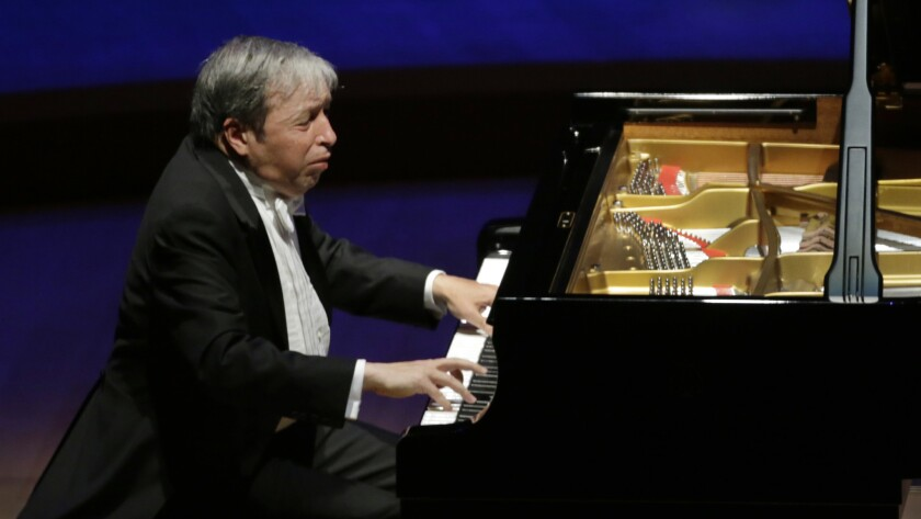 Murray Perahia piano recital at Walt Disney Concert Hall in Los Angeles.