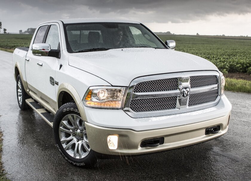The 2013 Ram 1500 with V-6 engine has a highway fuel economy rating of 25 mpg. The diesel version coming out later this year will do better, Chrysler says.