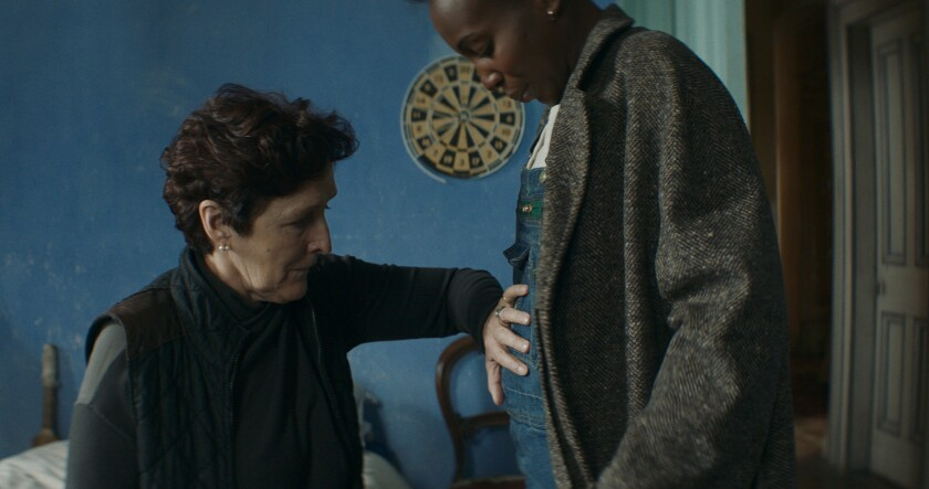 """Fiona Shaw, left, and Tamara Lawrance in a scene from Joe Marcantonio's """"Kindred,"""" an IFC Midnight release."""