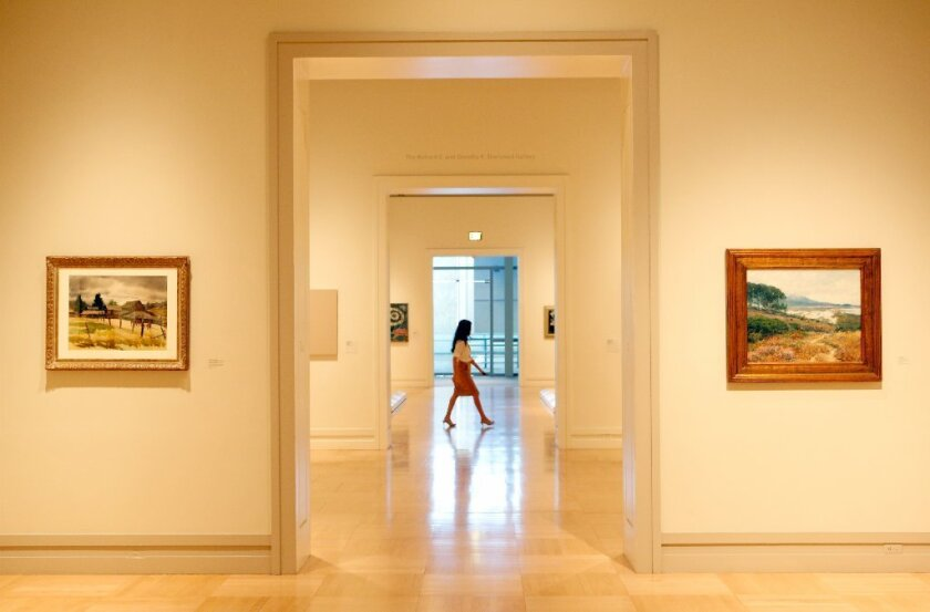 Inside the Arts of the Americas Building at the Los Angeles County Museum of Art.
