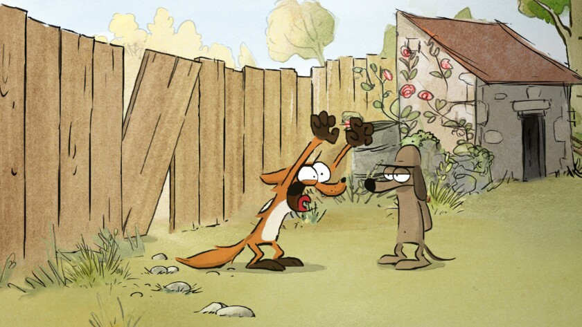 """The Big Bad Fox in the animated movie """"The The Big Bad Fox and Other Tales."""" Credit: GKIDS"""
