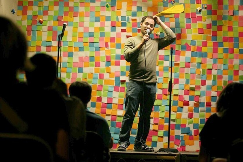Harris Wittels performs during a charity event benefiting 826LA, a nonprofit writing/tutoring center, in downtown Los Angeles.