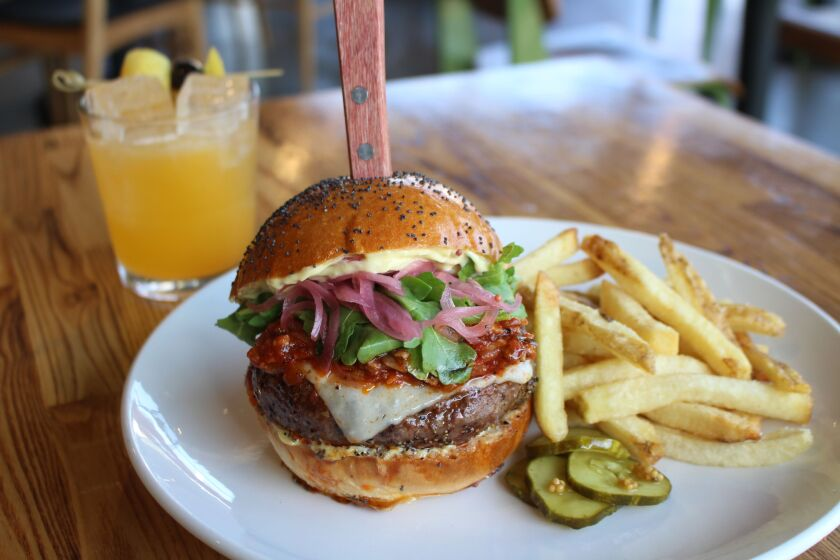 Trust's burger can be ordered anytime, not just at brunch.