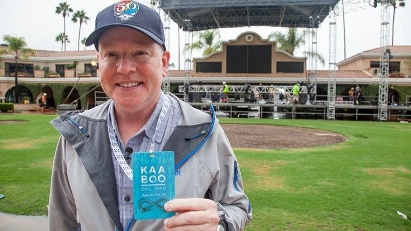 KAABOO founder Bryan E. Gordon is shown prior to the start of last year's debut edition of his high-end music, comedy, food and drink festival.