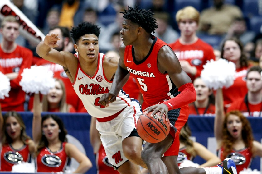 Georgia guard Anthony Edwards is one of the top candidates to be the first player taken in the 2020 NBA draft.