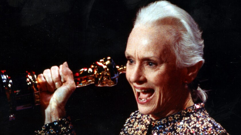 Jessica Tandy at 1990 Oscars.