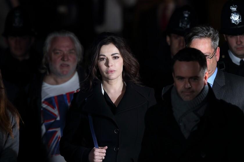Nigella Lawson leaves Isleworth Crown Court after testifying.