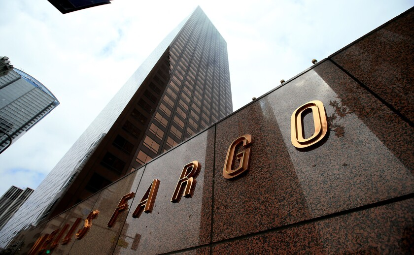 Wells Fargo Center on Bunker Hill in Los Angeles.
