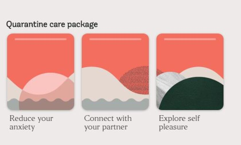 Screenshot of Coral's quarantine care package offerings