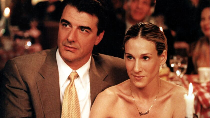 "Sarah Jessica Parker, right, with ""Sex and the City"" love interest Chris Noth"