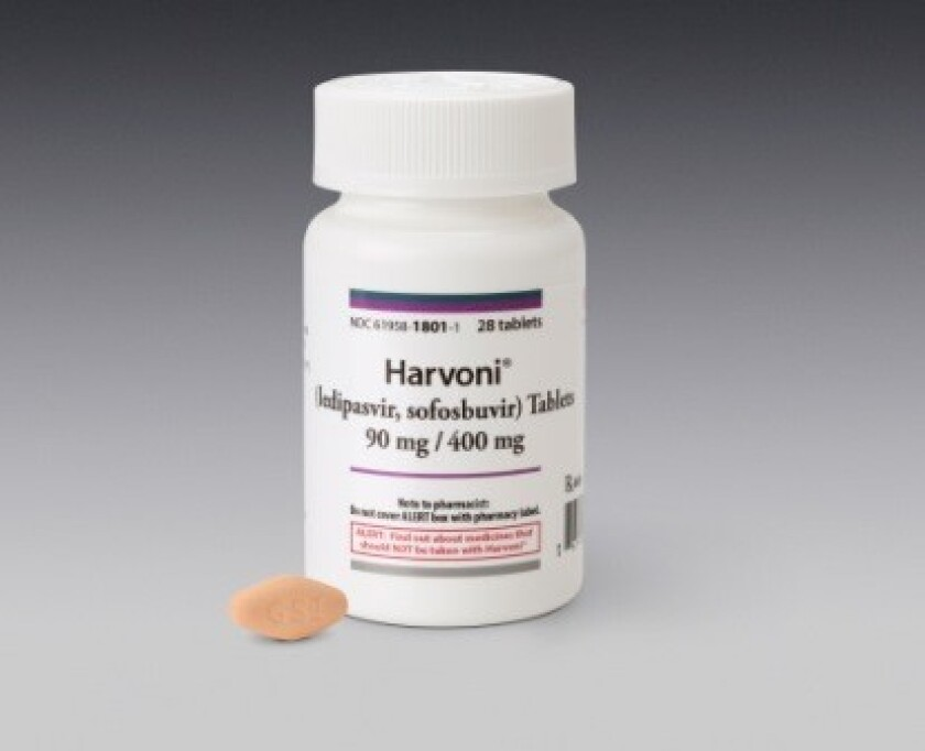 Harvoni, manufactured by Gilead Sciences Inc., is an expensive but effective treatment for hepatitis C. A 12-week treatment can cost $99,000.