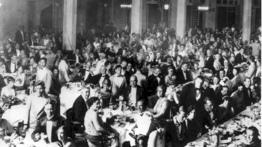 A regal dinner signaled the 1927 opening of the hotel. A gala dinner on March 3 will replicate that event of 90 years ago.