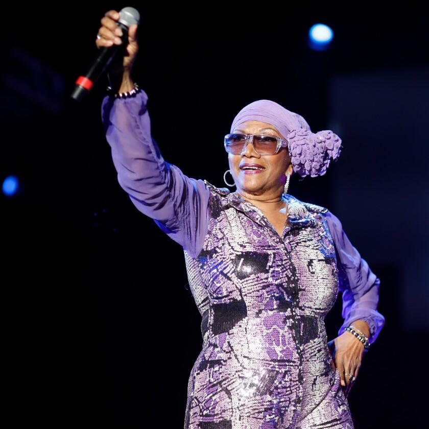 Reggae singer Marcia Griffiths