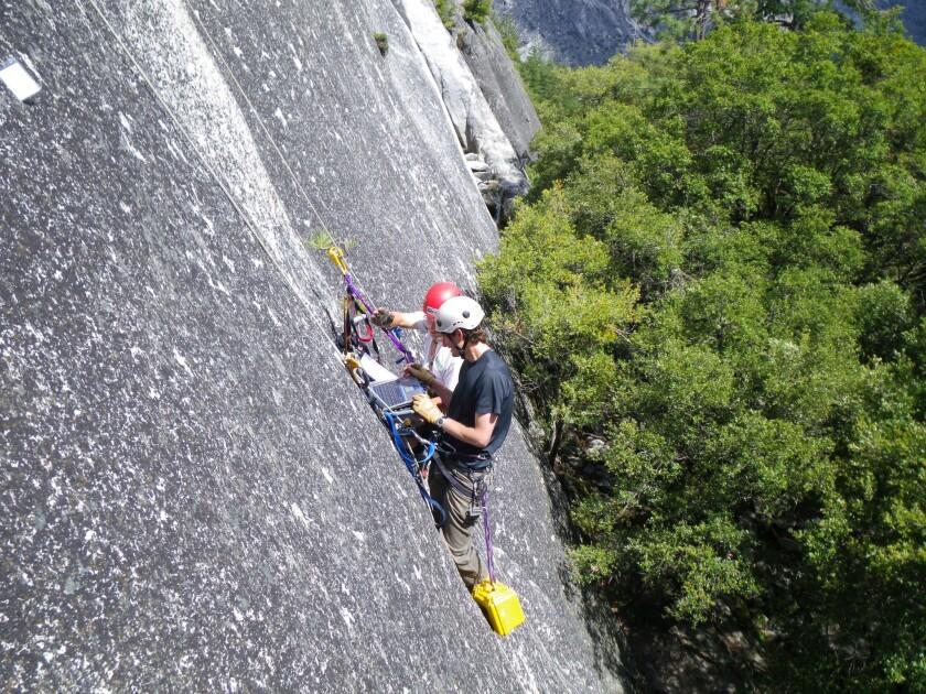Studying Yosemite's cliffs