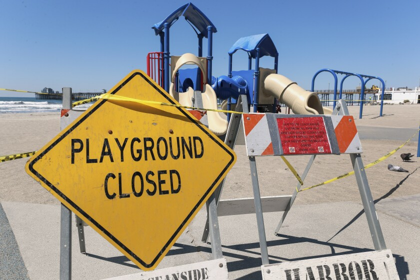 Playgrounds throughout San Diego County are expected to be reopened this week.