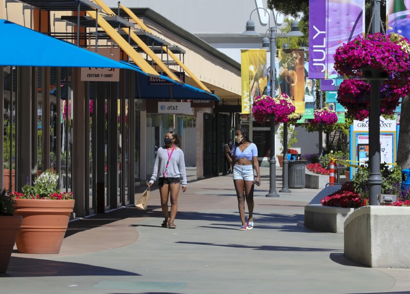 The Grossmont Center outdoor shopping mall in La Mesa.