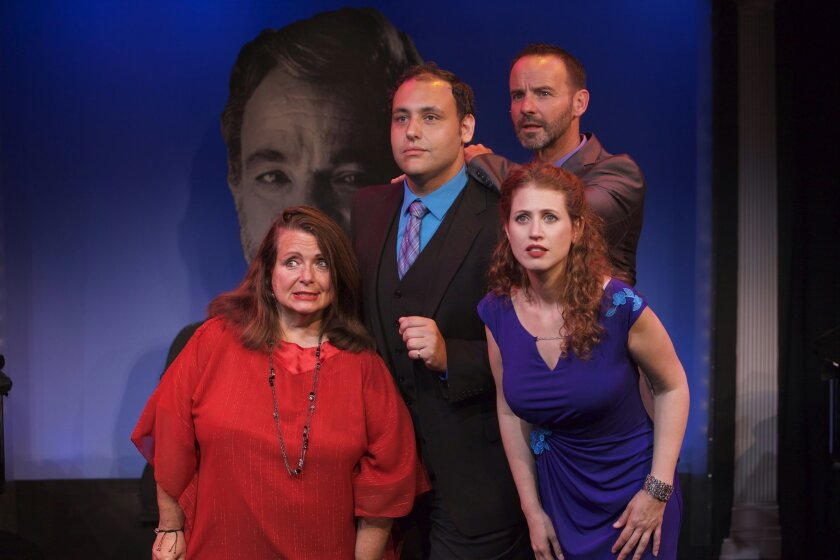 Angelina Réaux, Rena Strober, Nicholas Mongiardo-Cooper and Randall Dodge share a tense moment in 'Side By Side By Sondheim.'