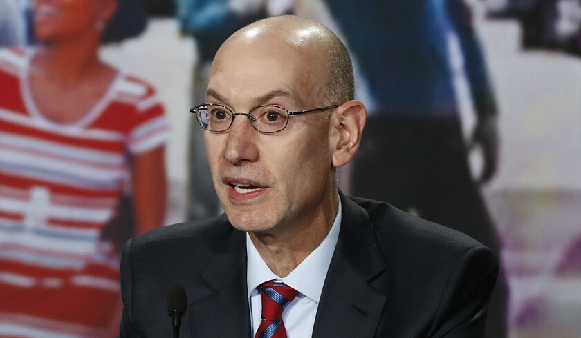 NBA commissioner Adam Silver, shown Nov. 22, wants to make league content available to as many fans as possible.