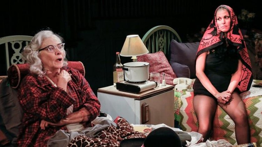 """Betty Buckely and Rachel York in a production of """"Grey Gardens"""" at the Bay Street Theater in Sag Har"""