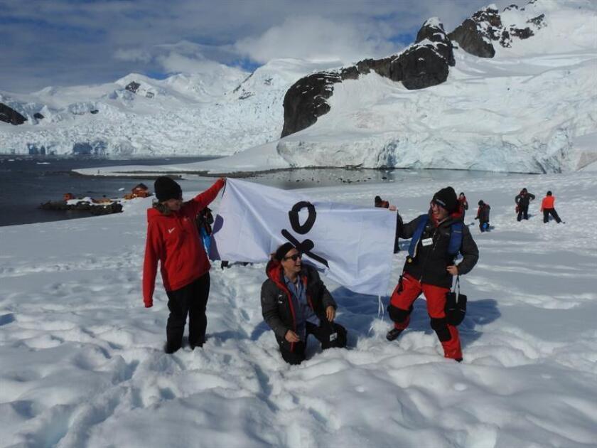 Members of the Homeward Bound expedition to Antarctica enjoy the beauty of the White Continent's Paradise Bay on Jan. 15, 2019. EFE-EPA/ Claudia Kielkopf