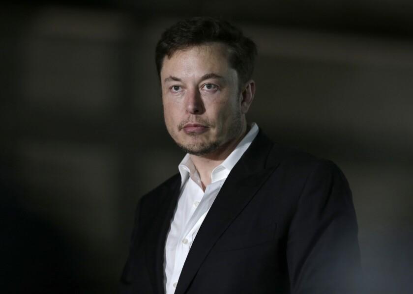 Elon Musk in 2018.