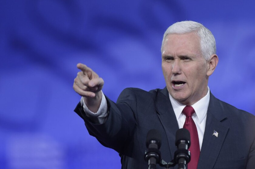 Vice President Mike Pence defended the Trump administration's plan to repeal and replace Obamacare on Feb. 23, 2017, in a speech at the Conservative Political Action Conference.