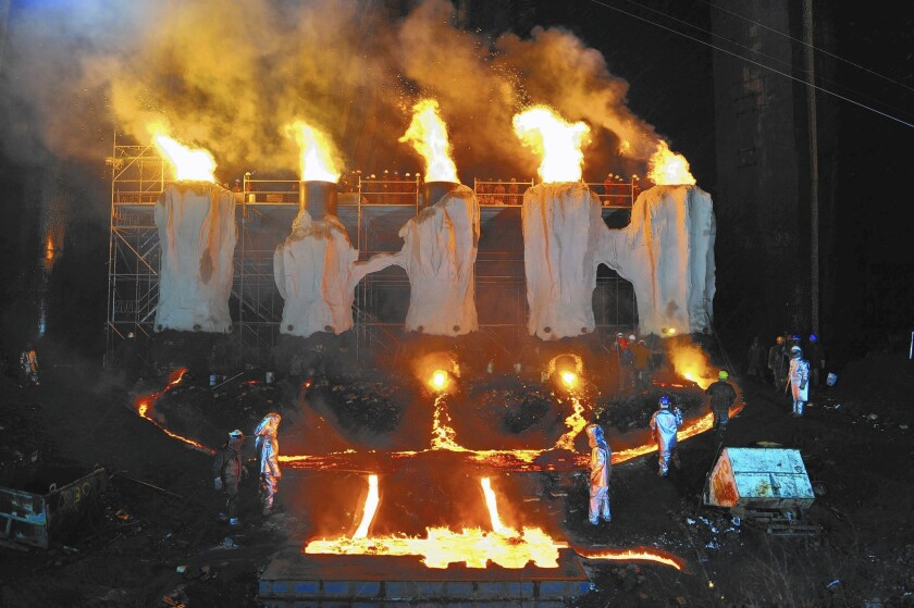 """A scene from """"River of Fundament"""" by Matthew Barney and Jonathan Bepler."""