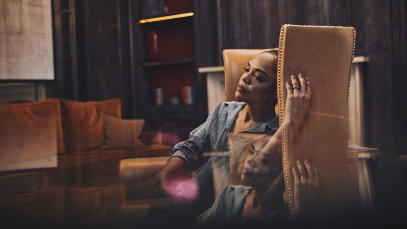 JUNE 2, 2019: London, United Kingdom- Actor Tessa Thompson, star of the the new movie, MEN IN BLACK