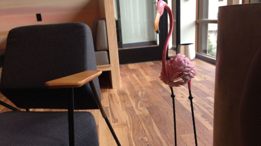 What's more San Diego for WeWork to include in its space than a pink flamingo like those at the San Diego Zoo?