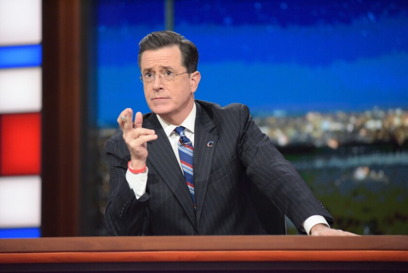 """The host of CBS' """"Late Show With Stephen Colbert."""""""