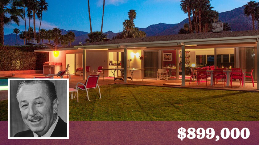 A Palm Springs home built for Walt Disney is for sale at $899,000.