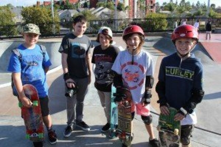 Young skateboarders at the Carmel Valley Skatepark, which has been open for five years. Photos/Karen Billing
